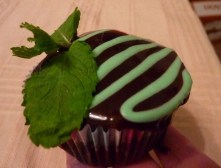 Mint Chocolate Oreo Cupcake
