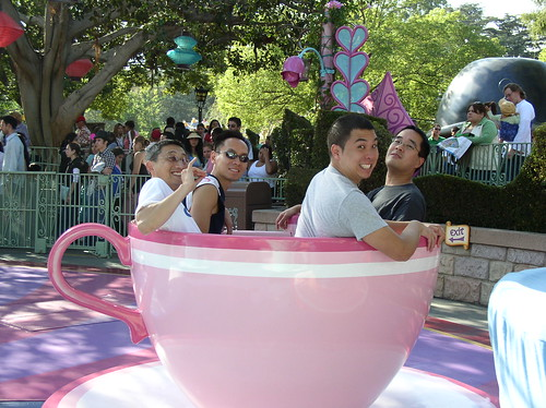guys in pink tea cup