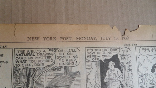 Superman First Issue New York Post Newspaper 1939 Date