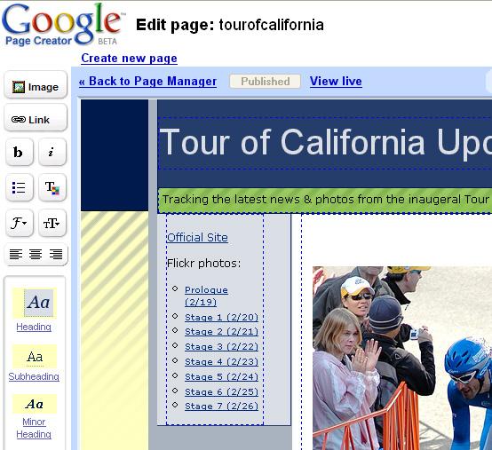 Google Page Editor