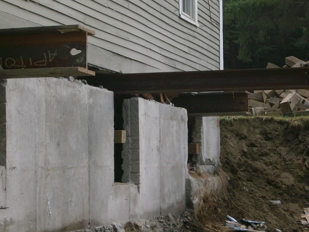 Steel under house - kitchen side