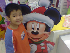 Lance and Mickey Mouse