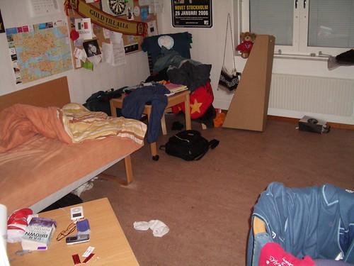 Habitación antes de recoger