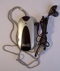radio linterna cocacola