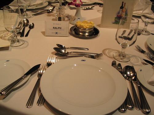 Table setting on Celebrity Cruises