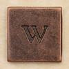 Copper Square Letter w
