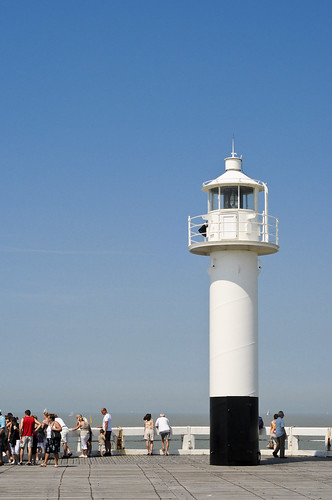 Blankenberge, Light Tower and Blue Sky