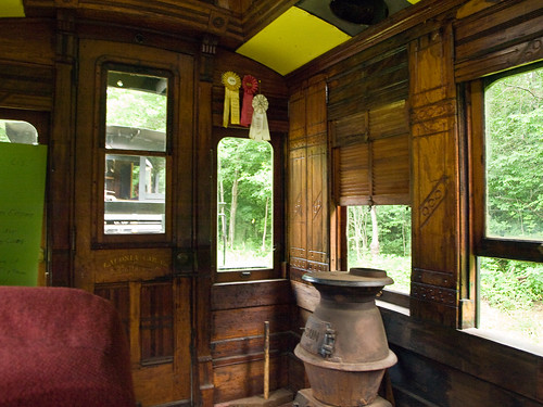 Interior of the passenger car