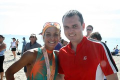 Fernanda Keller and my hubby at the Nautica South Beach Triathlon 2009