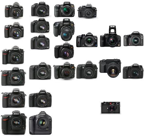 State of the DSLR market: Nikon vs. Canon vs. Sony/Minolta vs. Olympus vs. Panasonic/Leica vs. Pentax digital SLR cameras, as of June 2008