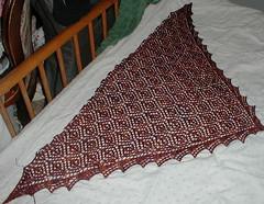 blocked shawl