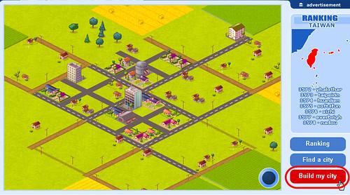 [好玩遊戲] 網頁版模擬城市,寫部落格也可以蓋城市哦 - myMinicity 2850958232_b0f3c6f174
