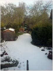 Snow retreat
