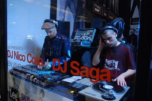 Nico Cota + Saga en la vidriera