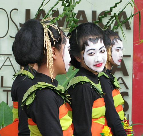 Javanese Girl Painted Face