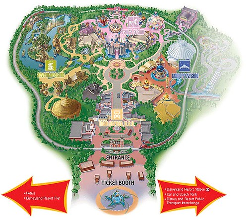 Disneyland Hong Kong Park Map