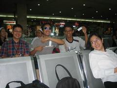 Flying to Manila