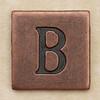 Copper Square Letter B