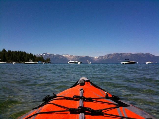 Kayaking in Zephyr Cove