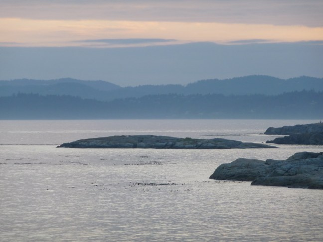 View on ferry from Victoria, B.C. to Port Angeles, Washington