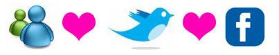 messenger facebook twitter