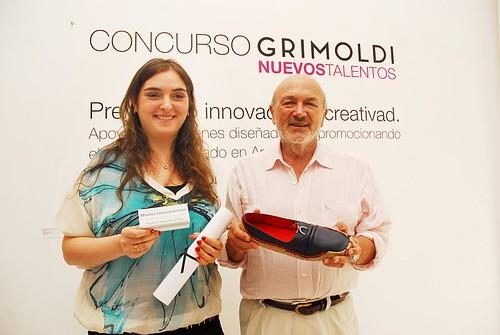 Marina Sebouhdanian (ganadora Concurso Grimoldi) y Alberto Grimoldi