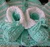 Crochet Baby Booties #2