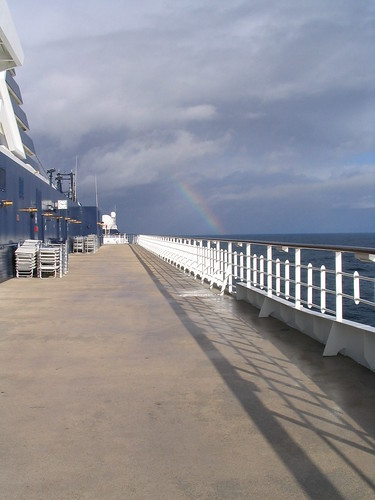 Rainbow out in the distance