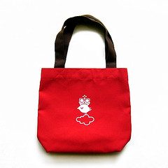 Crowned Bird On Cloud – Red Tote
