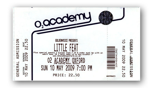 Little Feat ticket