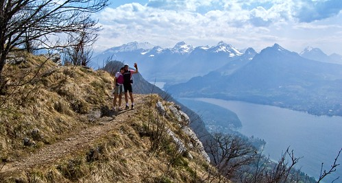 Lake Annecy from above Col des Contrebandiers