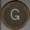 typewriter key letter G