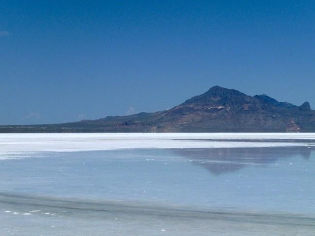 Bonneville Salt Flats after recent rain