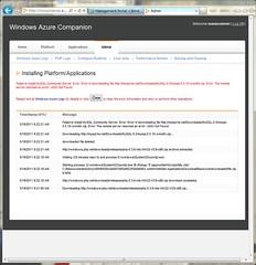 Happen Error at Install MySQL on Windows Azure Companion