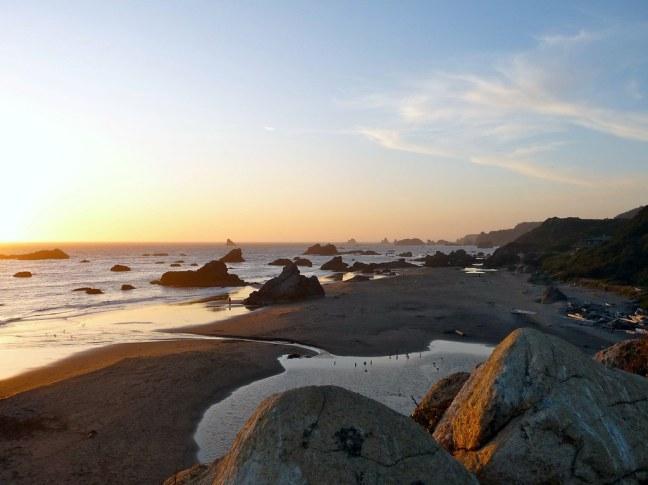Sunset at Harris Beach State Park