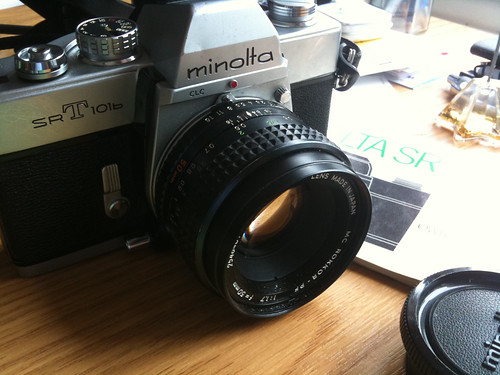 Minolta SR-T 101b with 50 mm MC Rokkor-PF f/1.7 prime