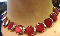 red bakelite necklace