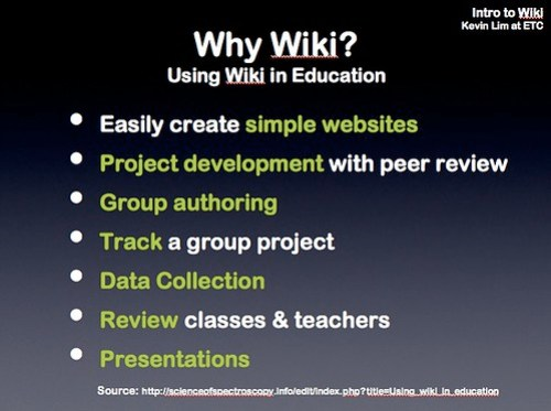 Using Wiki in Education