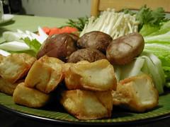 Veggie plate for sukiyaki