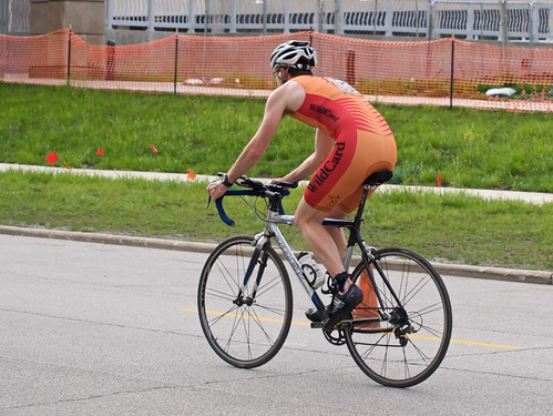 Rob starts the bike