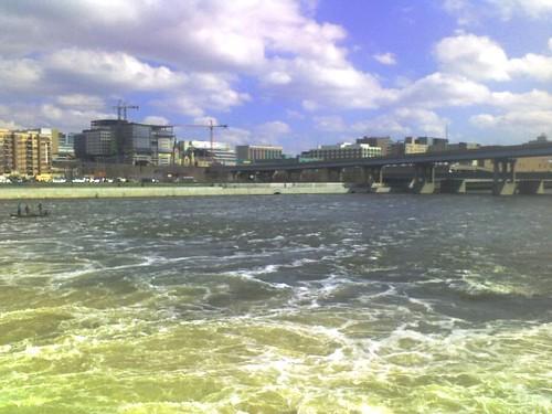 Grand Rapids skyline over river