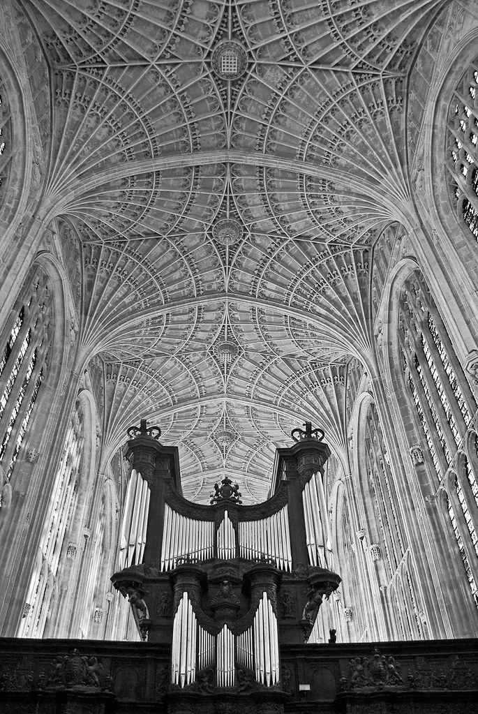 King's College chapel - B&W