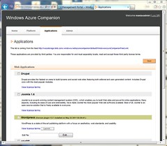 Installed WordPress on Windows Azure Companion