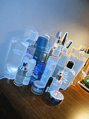 A portion of my skin/hair care products