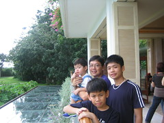 My boys at the Shangrila Hotel