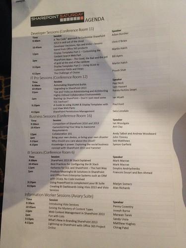 SPSUK Nov2013 Agenda