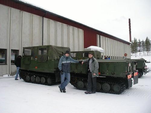 Uno de los vehiculos para moverse por la nieve