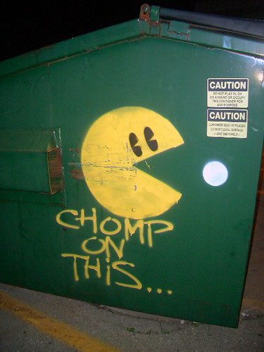 pacman garbage can