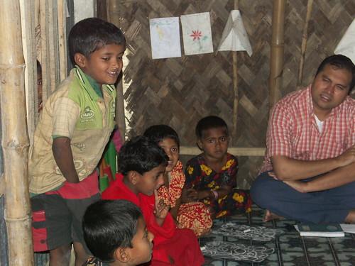 Dps Shumon Jahan with GS village pre-school students