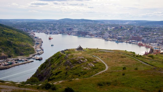 View of St. John's atop Signal Hill